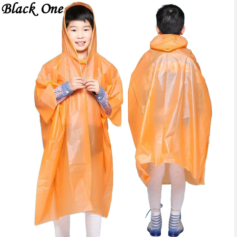 US $1 96 |Children Poncho Rain Waterproof Raincoat Waterproof Transparent  Kids Disposable Rain Coat Cover Kids Rainwear Camping regenjas-in Raincoats