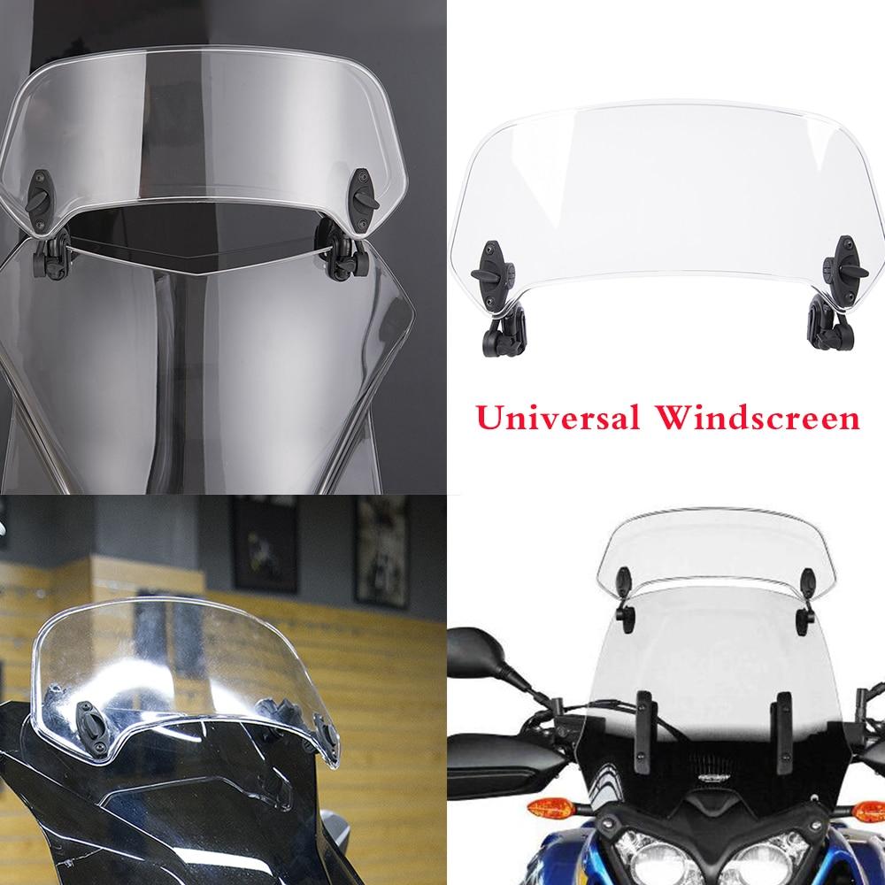 Universal Adjustable Clip On Screen Windshield Extension Spoiler Air Deflector Wind Shield for BMW Honda Yamaha Ducati Kawasaki