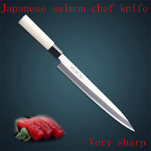 Free Shipping LD High Quality Chef Professional Slicing Sashimi Sashayed Fish Knife Restaurant Sharp Cooking Cleaver Knife