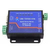 USR TCP232 410S Free Shipping Ethernet Converter Serial RS232 RS485 2 Ports Ethernet Converter Support Modbus Gateway