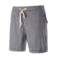Fashion Men Shorts Quick Dry Drawstring Classic Lattice Comfortable Breathable Loose Summer Beach Casual Shorts H