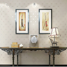 3d texture non-woven fine pressed Square pattern Plain colour wallpaper