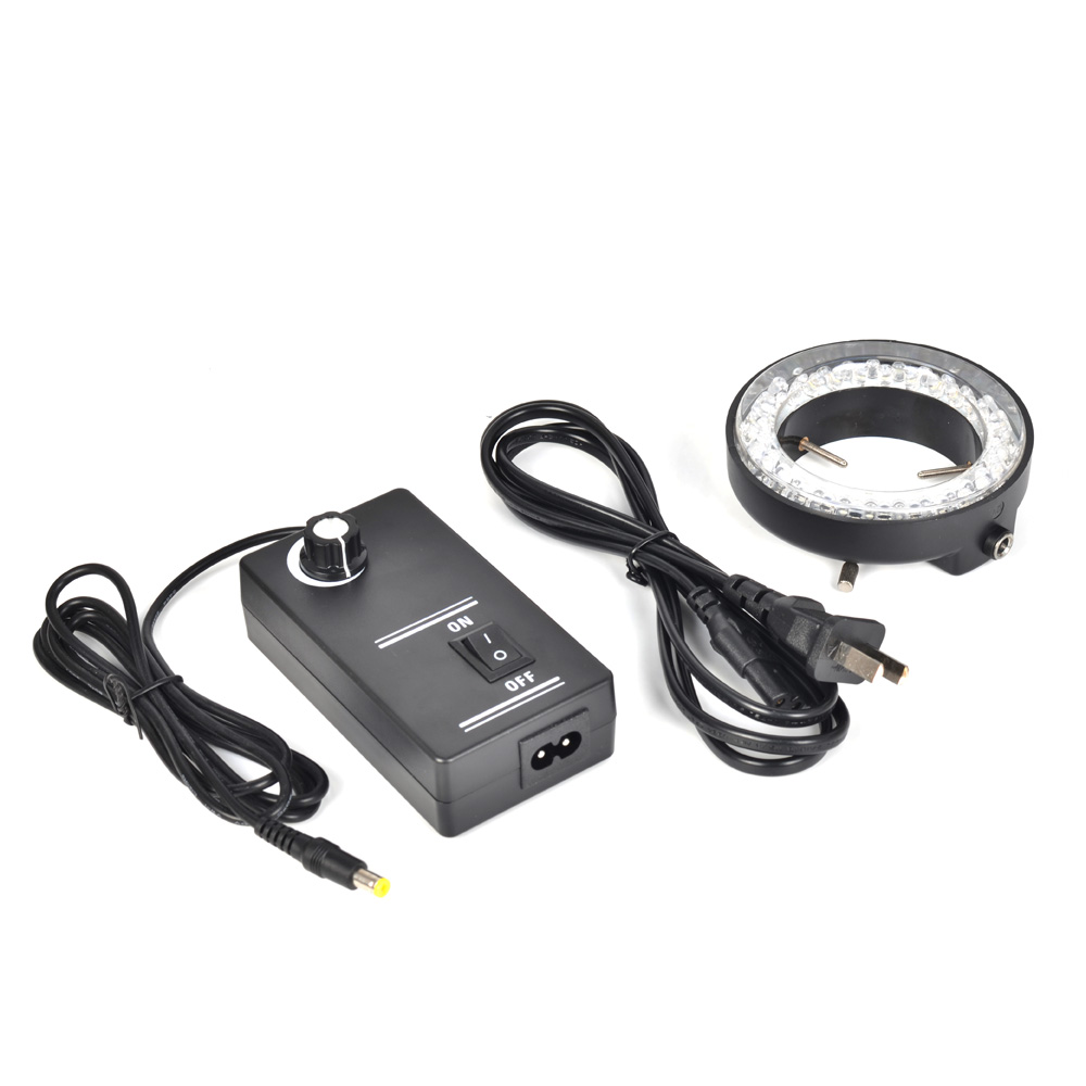 Adjustable 60 LED Ring Light Illuminator Lamp For Industry Microscope Industrial Camera Magnifier with AC Power Adapter  цены