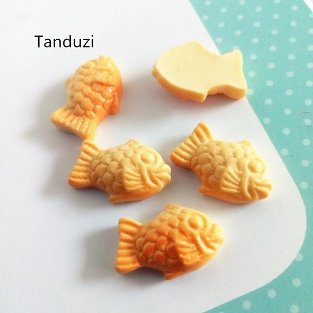 US $10 69 9% OFF|Tanduzi Wholesale 100PCS Resin Fish Bread Flatback  Cabochon Scrapbook Embellishment Diy Resin Miniature Japanese Food  Taiyaki-in