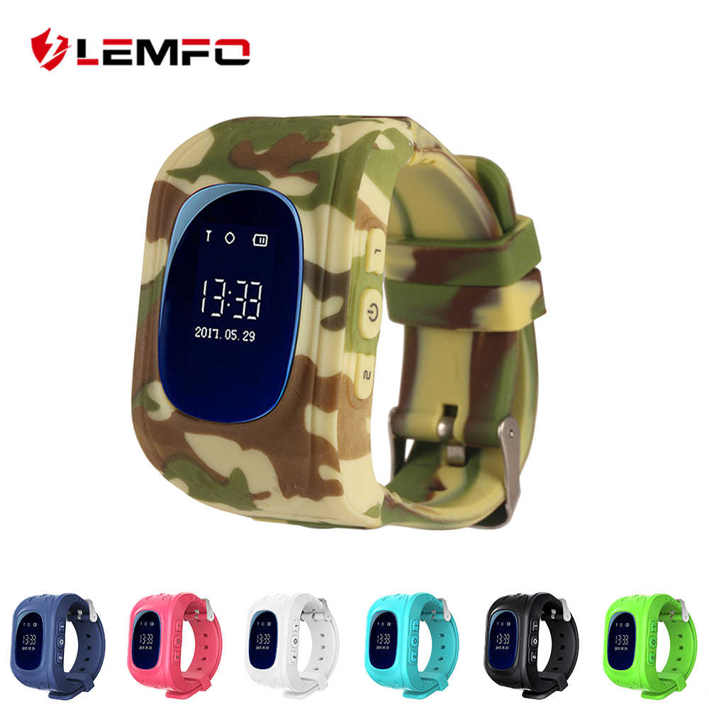 LEMFO Q50 kids smart watch Kids Watches GPS SOS LED baby Smartwatch Support Sim Card
