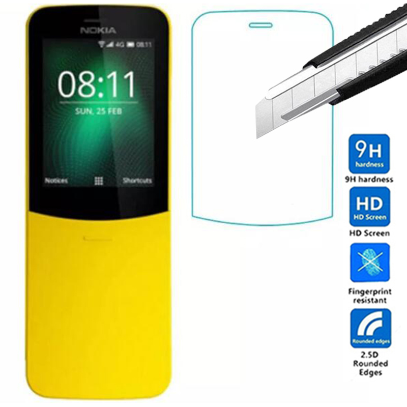 2PCS  0.3mm  Premium Tempered Glass Film Screen Protector For Nokia 8110 4G Protective Film For Nokia 8110 4G