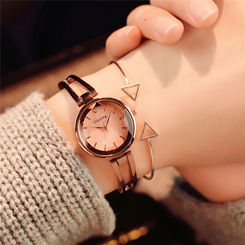 Cut Surface Design Luxury Fashion Ulzzang Brand Women Bracelet Watches Rose Gold Silver Stainless Steel Female Wrist Watch Gifts