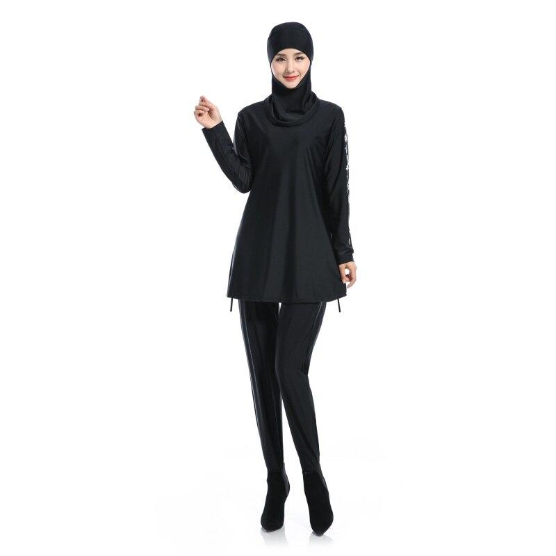 Adattabile 2 Colori Islamico Musulmano Delle Donne Di Copertura Completa Modesti Costumi Da Bagno Di Nuoto Del Beachwear Costumi H8