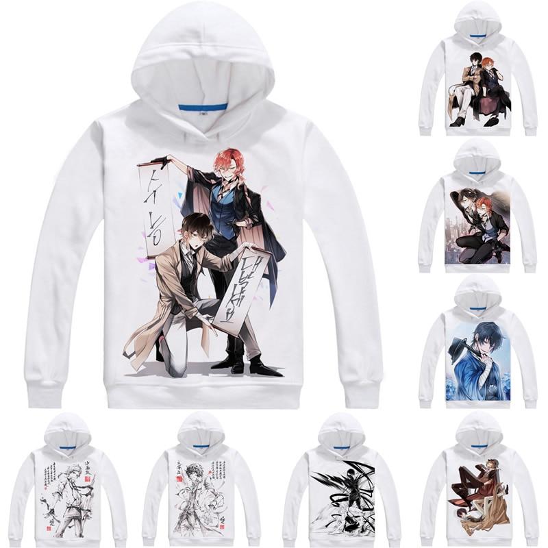 Atsushi Nakajima Osamu Dazai Mens Hoodies Bungo Stray Dogs Bungo Sutorei Doggusu Sweatshirt Streetwear Anime Hoodie Long Hooded