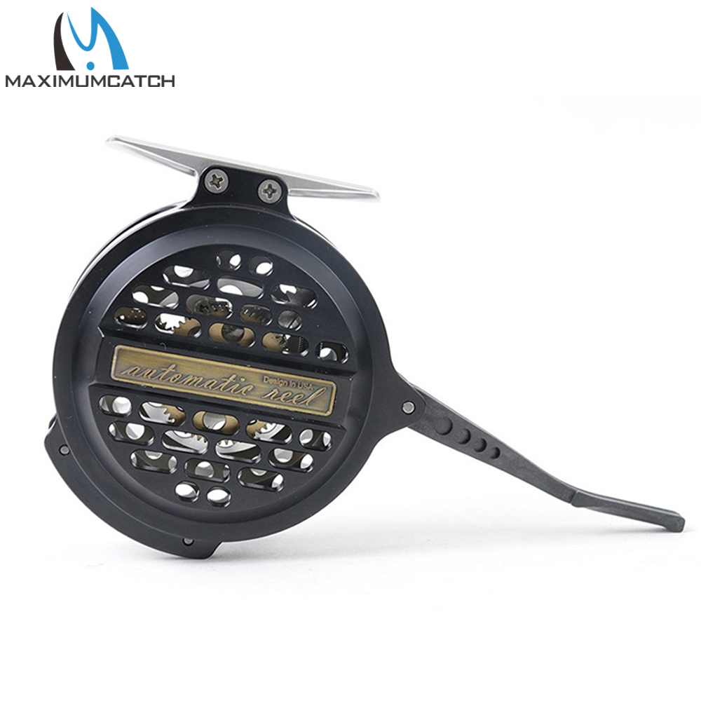 Maximumcatch Automatic Fly Fishing Reel Machined Aluminum Y4 70 Super Light Silver/Black Fly Reel aluminum alloy fly fishing reel silver 0 30mm 200m