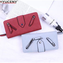 Hot new Fashion Women PU Wallet Womens Handbag Hasp ZipperLong Purses Card Holder High QualitBolsa Feminina 2018