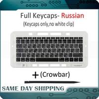 Genuine for Macbook Pro Retina 13 15 A1706 A1707 A1708 Russian Russia RU Keyboard Keys Key Cap Keycaps Late 2016 Mid 2017