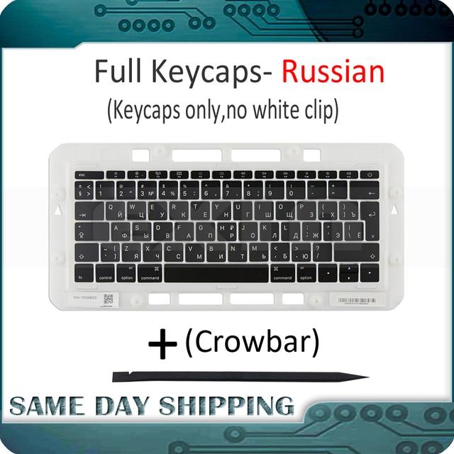 """Genuino per Macbook Pro Retina 13 """"15"""" A1706 A1707 A1708 Russo Russia RU Tastiera Tasti Chiave Cap Keycaps fine 2016 Metà 2017"""