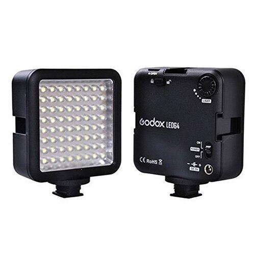 <font><b>Godox</b></font> <font><b>64</b></font> светодиодный Камера светодиодный Панель свет, Портативный затемнения Камера видеокамера светодиодный Панель видео Освещение для DSLR К&#8230;