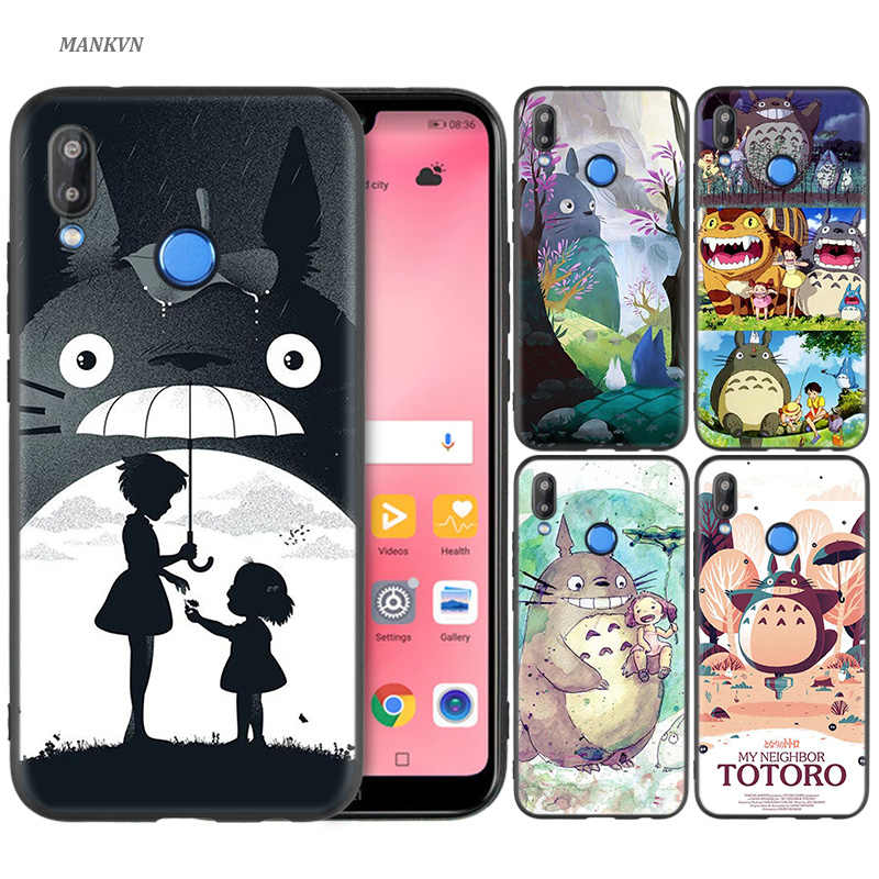 Silicone Case Cover for Huawei P20 P10 P9 P8 Lite Pro 2017 P Smart+ 2019 Nova 3i 3E Phone Cases My Neighbor Totoro Anime