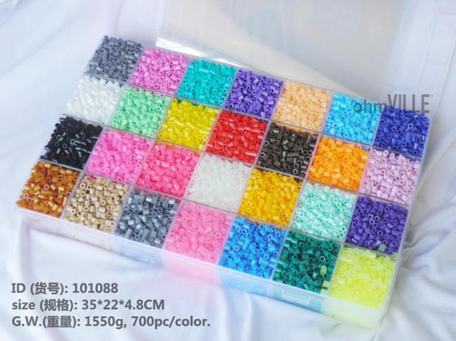 US $918 10 OFF101088 20000pcs 5mm Perler Beads 28 Colors Box Set Hama  Beads, Fuse Beads + 10 Pcs High Quality Iron Sheet + Free Shipping!!-in  Party
