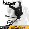 WoSporT Тактический Гарнитуры Снижения Шума II с Airsoft НАТО С Шумоподавлением Микрофон для Walkie Talkie Шлем Связи