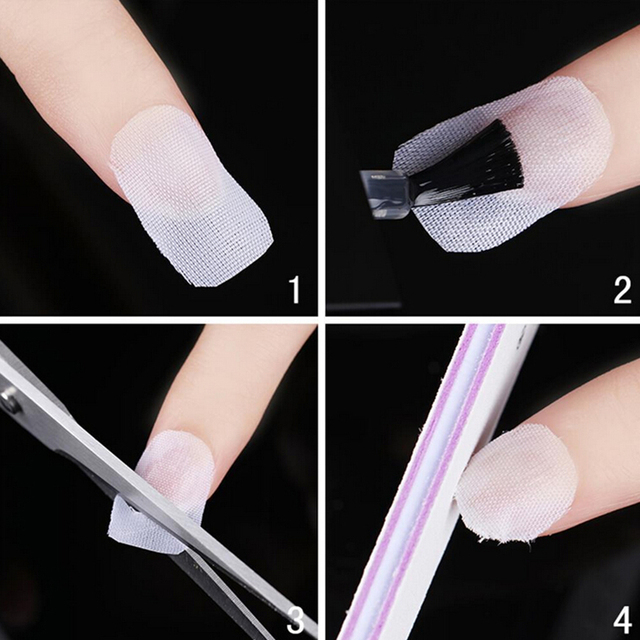 1 Roll Nail Fiberglass Silk Wrap Polish Gel Extension Guide Form False Nails
