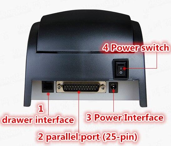 USB Serielle Parallel drucker Großhandel Hohe qualität 58mm thermische empfang drucker maschine druck geschwindigkeit 90 mm/s