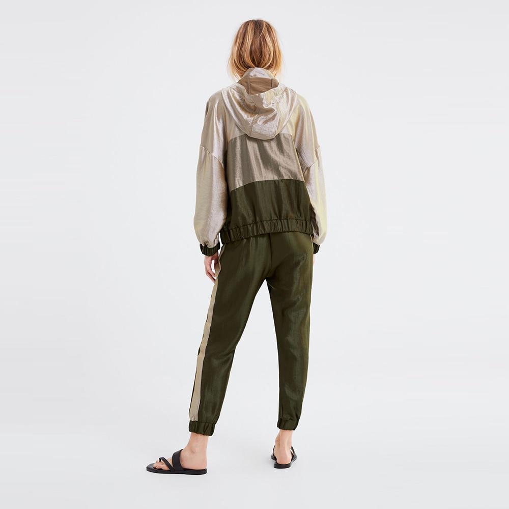 Linjiashop Recommander Sport Taille À Femmes Élastique Cou De Occasionnel Patchwork Printemps Blogueurs Ensembles Streetwear Capuchon Pantalon Trqn1awHTZ
