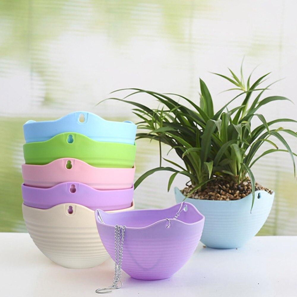 online get cheap modern plastic planters aliexpresscom  alibaba  - colorful plastic planter basket with flexible chain garden home decorationhanging flower pot flower basket(