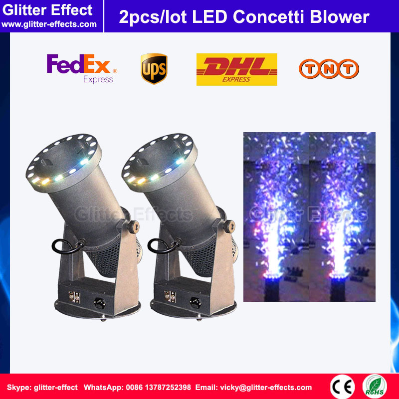 2pcs/lot Stage special effect wedding celebration Mini LED confetti cannon DJ night club bar metalic paper blower machine 2pcs lot stage special effect wedding celebration mini led confetti cannon dj night club bar metalic paper blower machine