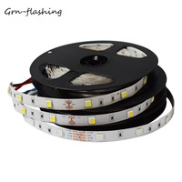 GRN-FLASHING SMD 5050 LED strip light DC12V 30LED/M 5M led flexible ribbon tape for indoor decoration light RGB,White,Blue,Red