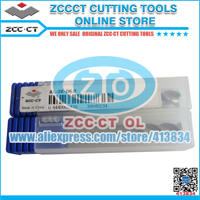 Free Shipping ZCCCT brand new AL-3E series Dimension 6.0mm 8.0mm 10.0mm for  aluminum cutting 1 pack free shipping 11 6inch brand new b116han03 0 b116han03