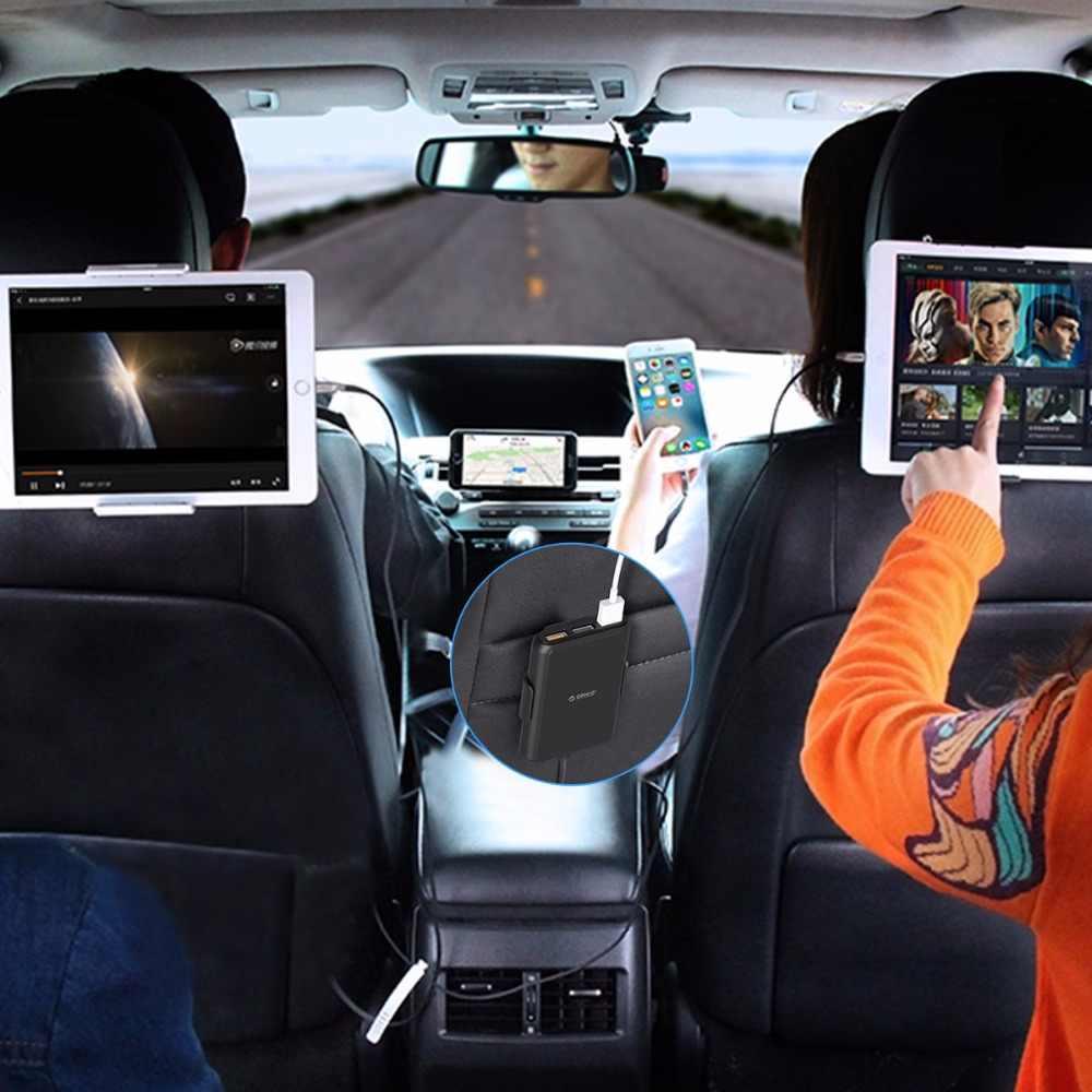 ORICO 5 puertos QC3.0 cargador de coche USB Universal adaptador de cargador USB 52W para MPV coche teléfonos móviles Tablet PC 12 V-24 V