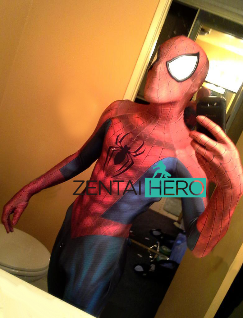 Free Shipping DHL 2017 Amazing Newest Spiderman Costume 3D