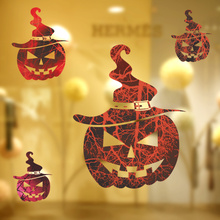 pumpkin lantern wall stickers halloween decoration home decals festival mural art posters living room decor kids gift