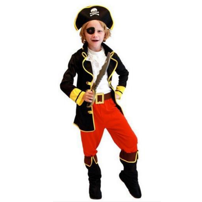 NUOVO Cutthroat Pirate Caribbean Fancy Dress Costume Child Kids Boys Primo compleanno Girl Party