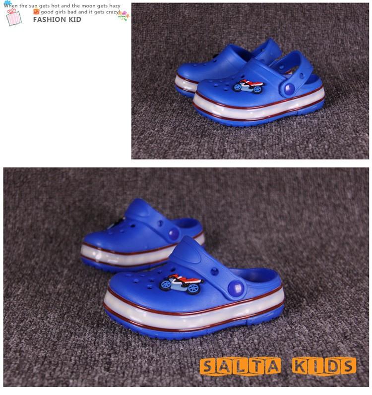 2016New Insole14 21cm Girls Boys LED Summer Beach Shoes EVA Anti ... 008a51b7f2b