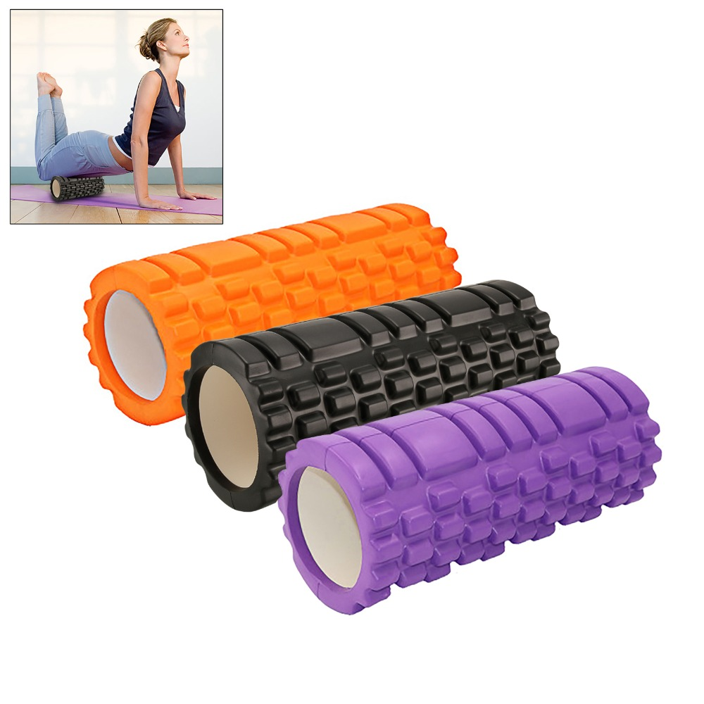 33*14 cm EVA Yoga Column Roller Yoga Foam Shaft Exercise Physical Massage Grid Massage Relax Column Pain Wolf Spike 3 Colors