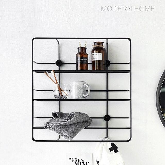 Wall Mounted Modern Classic Design fashion Loft Metal Steel Shelves Rack Storage Holders Coat Rack hook, display show shelf rack