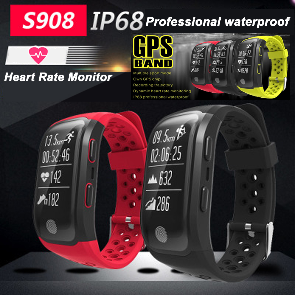 Joinrun S908 GPS Smart Band IP68 Waterproof Sports Wristband Multiple sports Heart Rate Monitor Fitness Tracker Sport Band цена
