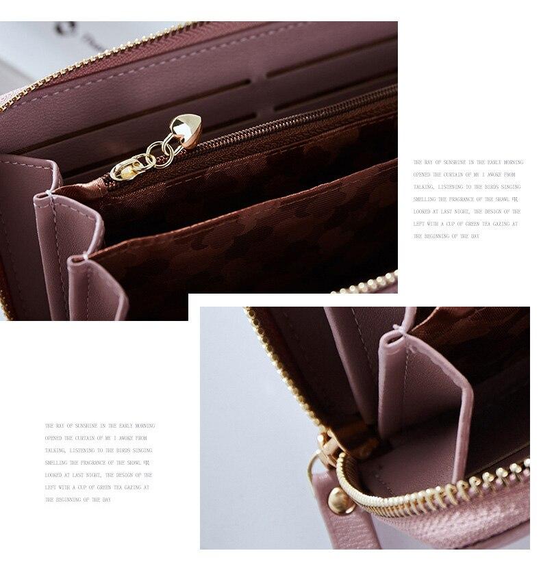 Women Long Clutch Wallet Large Capacity Wallets Female Purse Lady Purses Phone Pocket Card Holder Carteras 40