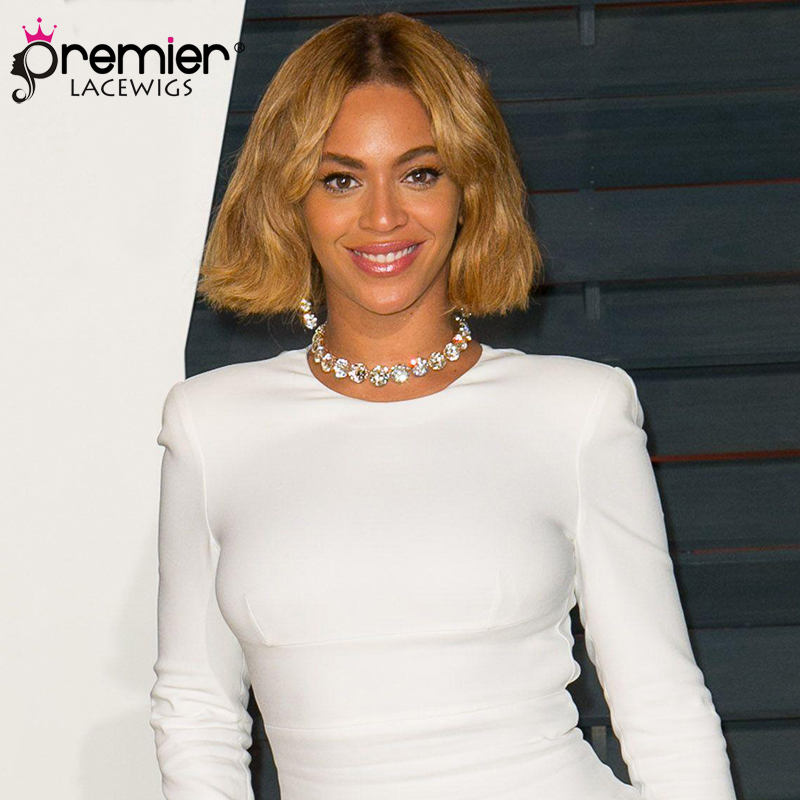 PREMIER LACE WIGS Blonde Human Hair Bob Beyonce Inspired Ombre Bob Lace Front Wigs(CLFW- ...