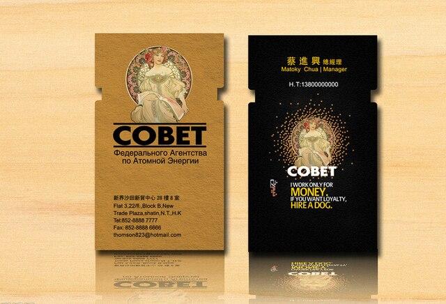 500 Pcs Lot 300gsm Papier Dart Carte De Visite 4 Couleur Impression Offset
