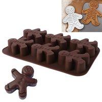 Silicone Mold Gingerbread Man Fondant Cake Chocolate Sugarcraft Baking Mould DIY