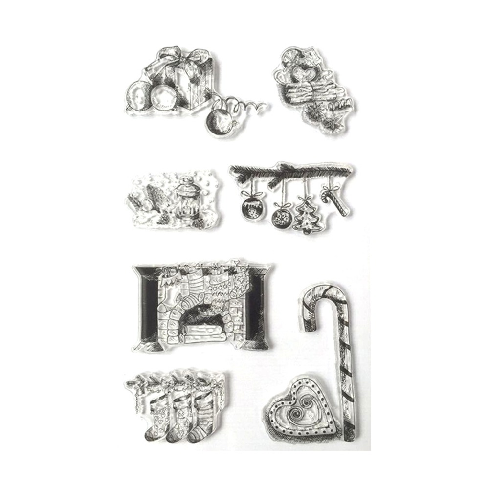 NºA collection of Christmas Transparent Clear Stamp Seal for ...