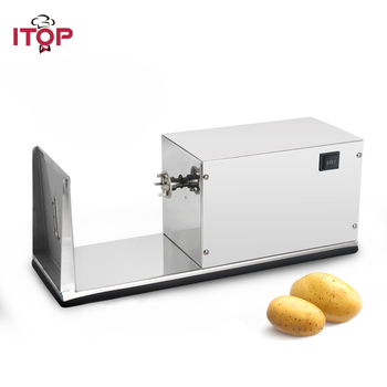 ITOP Electric Spiral Potato Cutter Vegetable Slicer Machine Tornado Potato Tower Machine Stainless Steel French Fries Cutters commercial vegetable slicer onion slicing potato cutter machine electric vegetable potato carrots onions cutting machine 1pc