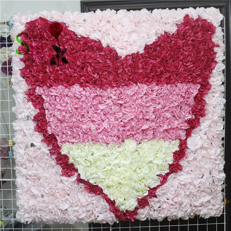 SPR livraison gratuite 10 pcs/lot artificielle rose pivoine hortensia fleur mur mariage toile de fond événement bohême mariage occasion mur