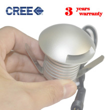 CREE 12V 24V buried light mini Outdoor waterproof IP68 3W LED underground light Recessed Deck Floor Wall LED Underground Lamp  цены