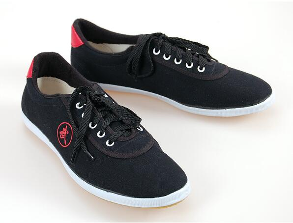 Высокое качество тай-чи Обувь ребенка в школу белые спортивные Обувь Боевые искусства Для мужчин Для женщин Тайцзи Wu Шу обуви кунг-фу 5 видов цветов - Цвет: BLACK 1
