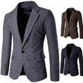 Plus Size M-XXL 2016 Nova primavera outono Mens Jaqueta Blazer dos homens casuais Slim Fit Terno jaqueta Casaco blazer Dos Homens terno de alta qualidade