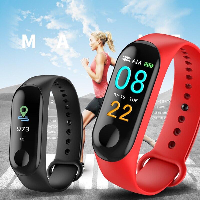 M3 Smart Watch Bracelet Band Fitness Tracker Messages Reminder Color Screen Waterproof Sport Wristband For men M3 Smart Watch Bracelet Band Fitness Tracker Messages Reminder Color Screen Waterproof Sport Wristband For men women
