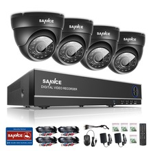 SANNCE 4CH 720P CCTV System 4PCS 720P 1MP outdoor Security Cameras 1080P HDMI CCTV Video Surveillance kit & Email Alert