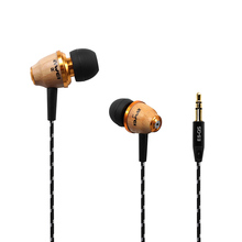 Wholesale New Arrival XY1224 Super Bass In-Ear Wooden Wood 3.5mm Earphone Headset for IPhone 6s Xiaomi Wooden Earphones With Microphone