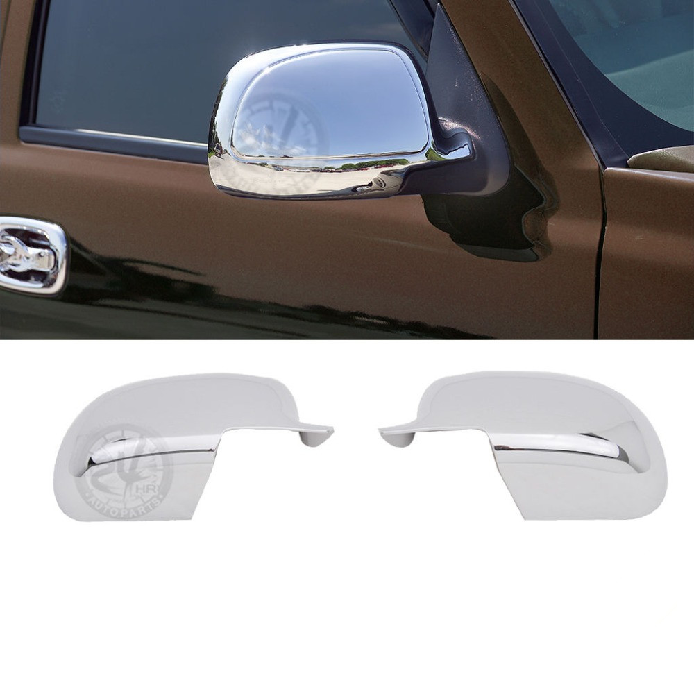 Triple Chrome Plated ABS Mirror Cover for 99 06 Chevy Silverado 02 06 For Chevrolet Avalanche